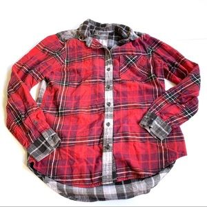 Eddie Bauer red black Plaid Flannel Extra Small